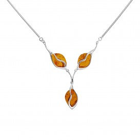 BALTIC AMBER & STERLING SILVER NECKLACE