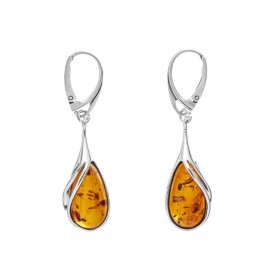 GENUINE BALTIC AMBER & STERLING SILVER EARRINGS