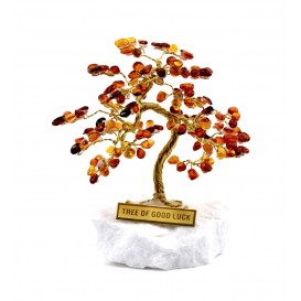 "HANDMADE BALTIC AMBER SOUVENIR - ""TREE OF GOOD LUCK"""