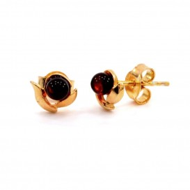 BALTIC AMBER & 14k Gold Plated Sterling Silver Earrings