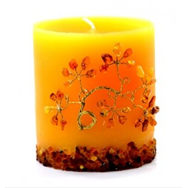 UNIQUE HANDMADE BALTIC AMBER CANDLE